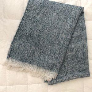 Loft Blue/Gray Blanket Scarf